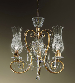 Anfora Design Chandelier with Decorative Glass Shades