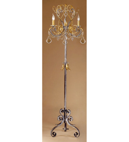 Malva Design Floor Lamp with Clear Crystal Details