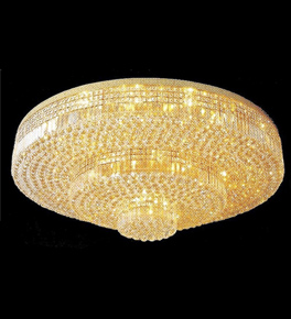 Surface mounted 45 light circular crystal chandelier