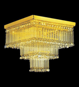 Square 3 Stage Crystal Chandelier