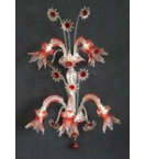 Murano Tinted Glass 5 Light Venetian Style Tiered wall lamp.
