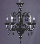 Murano Glass 5 Light Dutch Style Chandelier.