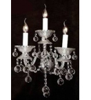 Murano Glass 3 Light Crystal Drop wall lamp.