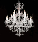 Murano Glass 20 Light Neoclassical Hale Chandelier.