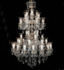 Murano Glass 48 Light Neoclassical Tiered Chandelier.