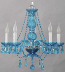 Stock Small Murano Glass Chandelier With Bead and Crystal