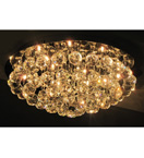 12 Light Crystal Ball Surface Mounted Chandelier