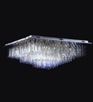 Crystal Prism Flush Fitting Ceiling Light