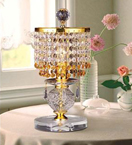 Clear & Coloured Crystal Drop Table Lamp