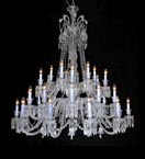 36 Light Crystal Baccarat Style Chandelier
