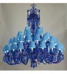 48 Light Blue Tones Chandelier with Shades