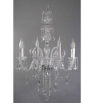 8 Light Coloured Murano Style Glass Chandelier