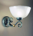 Impero Design Bowl wall lamp With Sinuous Arms And Blown Glass