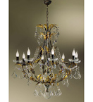 Settecento Design 8 Light Chandelier with Crystal Decoration