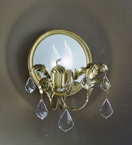 Specchio Design Wall Lamp with Mirror Back