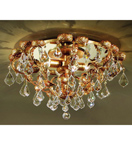Specchio Design Flush Fitting Chandelier with Baroque Leaves