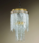 Stalattite Design Ceiling Light with Ice Effect Glass