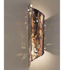Fuoco design cylinder shape metal sheet wall lamp with cut details made using flame