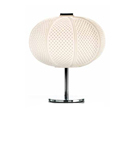 Arabesque Design Pin Cushion Style Glass Table Lamp
