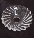 Glass Drip Tray With Whirl Design