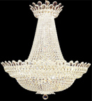 Regency style dome shaped 63 light crystal chandelier