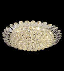 Surface mounted 9 light crystal chandelier